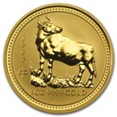 1997 Australia 1 oz Gold Lunar Ox BU (Series I)